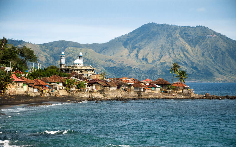 Krajobraz Flores, Indonezja zdjęcia stock