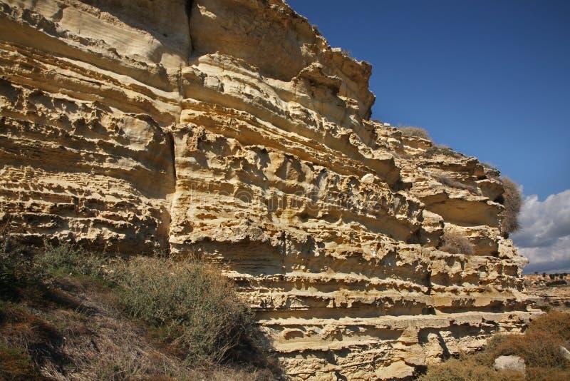 Krajobraz Góra blisko Kourion Cypr obraz stock