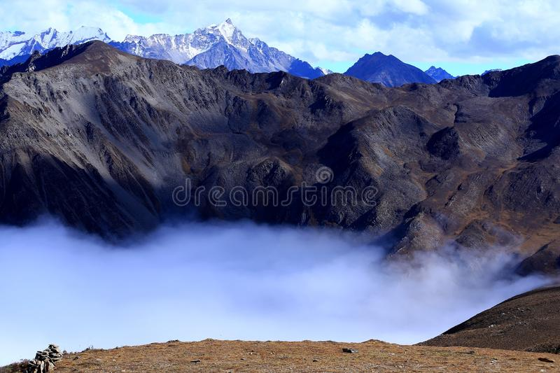 Krajobraz góra Gongga fotografia royalty free