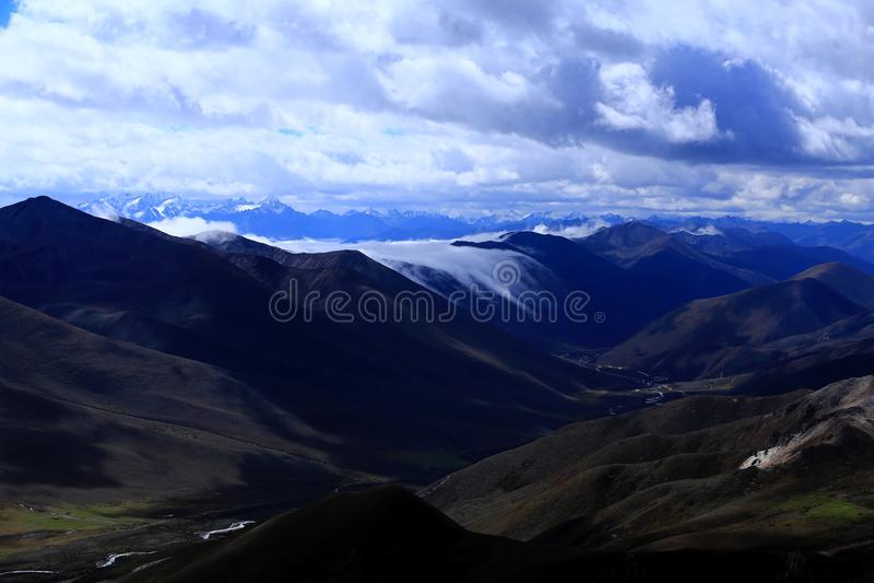 Krajobraz góra Gongga zdjęcie royalty free