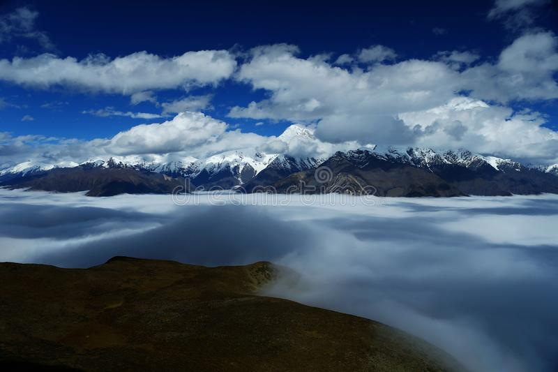 Krajobraz góra Gongga fotografia stock