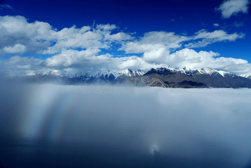 Krajobraz góra Gongga obrazy royalty free