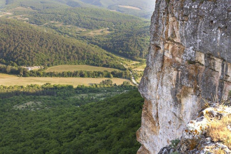 Krajobraz góry i wzgórza Krymski półwysep zdjęcia stock