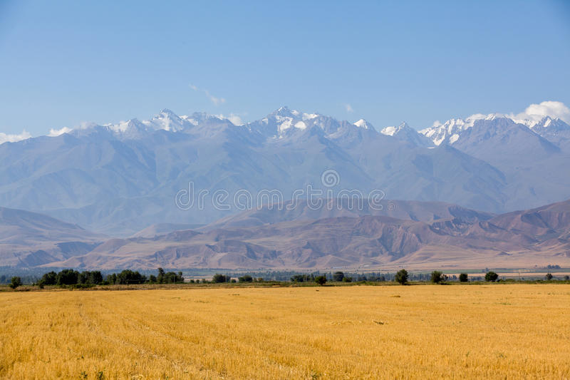 Krajobraz góry przy jesienią obraz royalty free