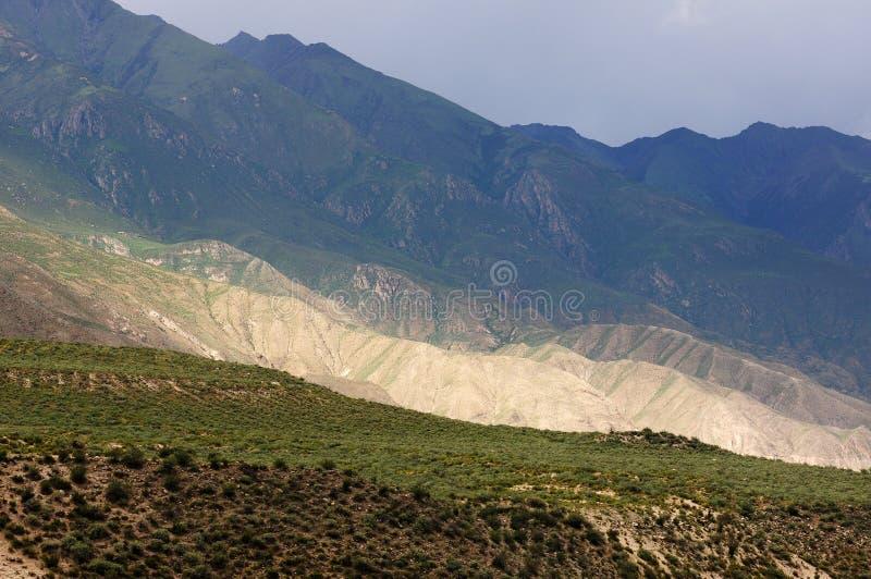 Krajobraz góry w Tybet zdjęcie stock