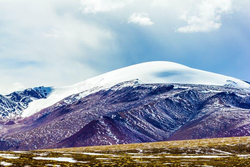 Krajobraz g?ra na Qinghai plateau, Chiny obraz royalty free