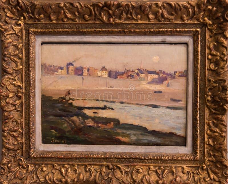 Krajobraz Georges Seurat zdjęcie stock