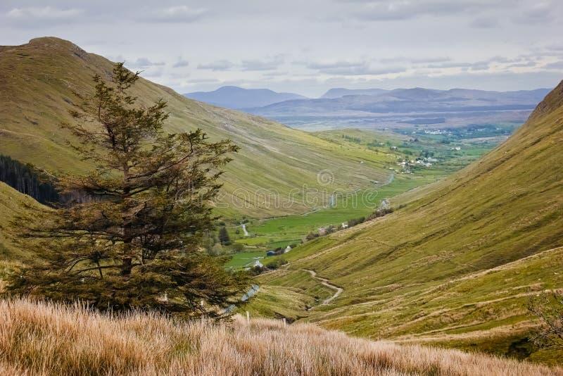 Krajobraz Glengesh przepustka Okręg administracyjny Donegal Irlandia zdjęcie royalty free