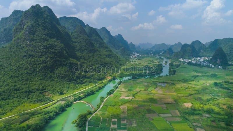 Krajobraz Guilin Li rzeka zdjęcie stock