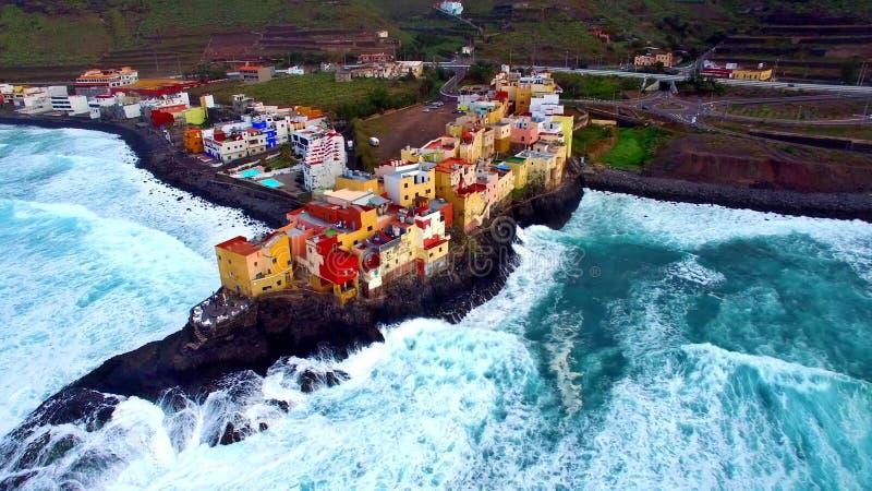 Krajobraz i widok piękny Gran Canaria przy wyspami kanaryjskimi, Hiszpania fotografia stock