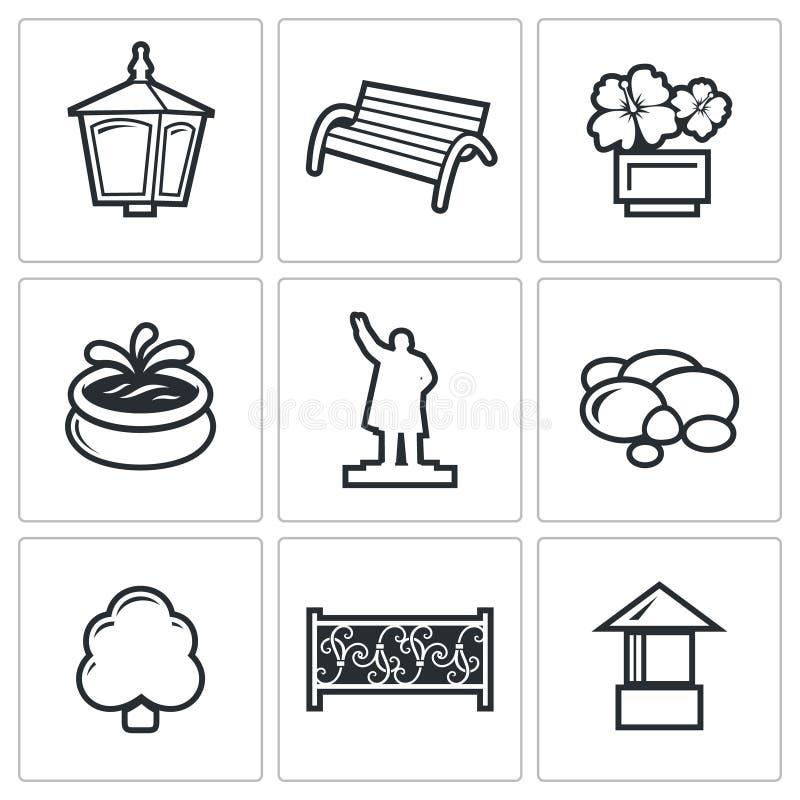 krajobraz ikon również zwrócić corel ilustracji wektora ilustracji