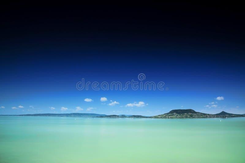 Krajobraz Jeziorny Balaton obraz stock