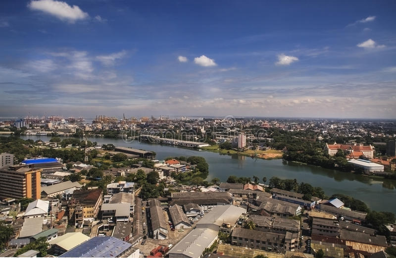 Krajobraz Kolombo, Sri Lanka - zdjęcie stock