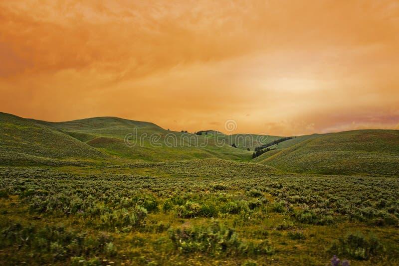 Krajobraz - kolorowy niebo fotografia stock