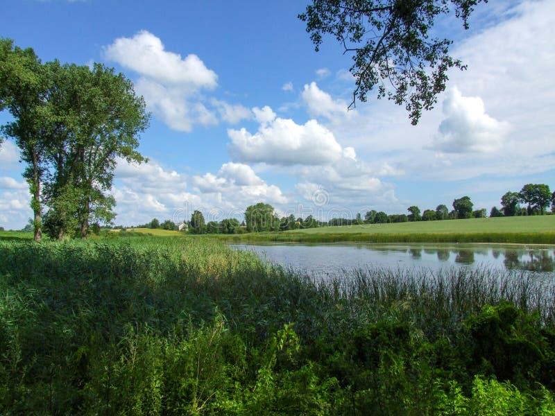 Krajobraz Lubelskie region w Polska fotografia stock