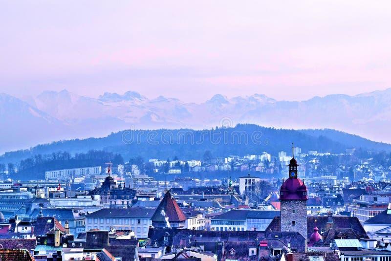 Krajobraz lucerna, Szwajcaria zdjęcia stock