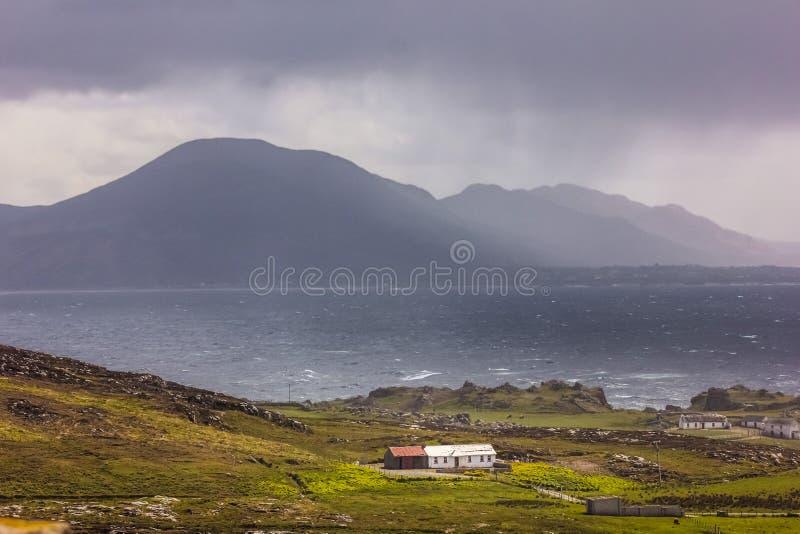 Krajobraz Malin Głowa Inishowen Okręg administracyjny Donegal Irlandia obrazy royalty free