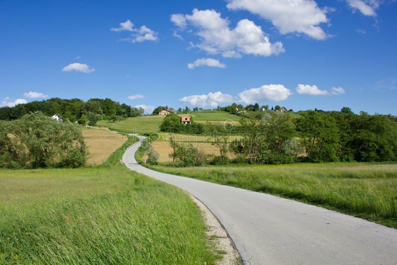 Krajobraz Medjimurje, Chorwacja fotografia stock