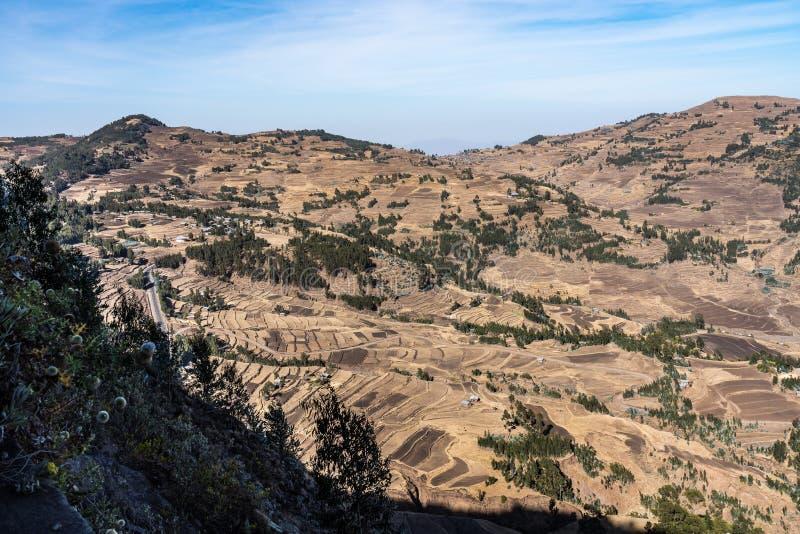 Krajobraz mi?dzy Gheralta i Lalibela w Tigray, Etiopia, Afryka zdjęcie royalty free