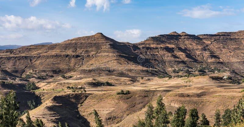 Krajobraz mi?dzy Gheralta i Lalibela w Tigray, Etiopia, Afryka zdjęcia royalty free