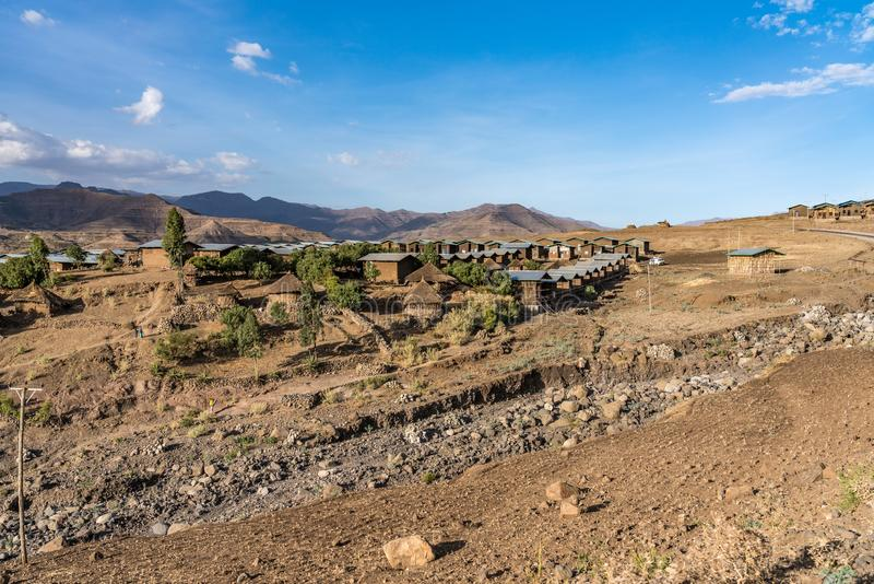 Krajobraz mi?dzy Gheralta i Lalibela w Tigray, Etiopia, Afryka obrazy stock