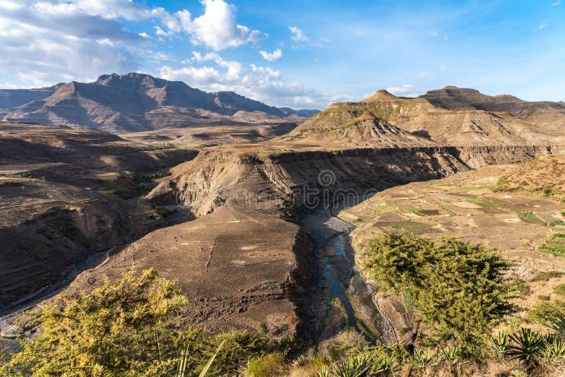 Krajobraz mi?dzy Gheralta i Lalibela w Tigray, Etiopia, Afryka obraz royalty free