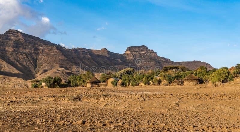 Krajobraz mi?dzy Gheralta i Lalibela w Tigray, Etiopia, Afryka fotografia royalty free