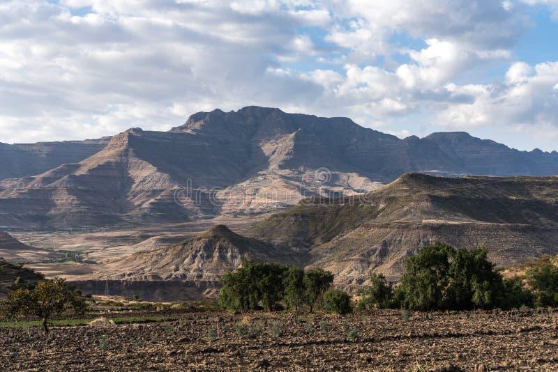 Krajobraz mi?dzy Gheralta i Lalibela w Tigray, Etiopia, Afryka obraz stock