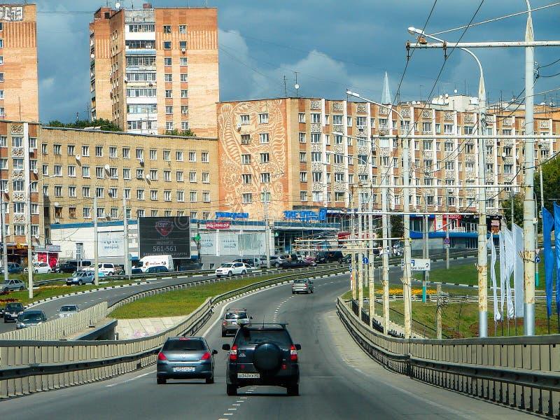 Krajobraz miasto Kaluga w Rosja zdjęcie stock