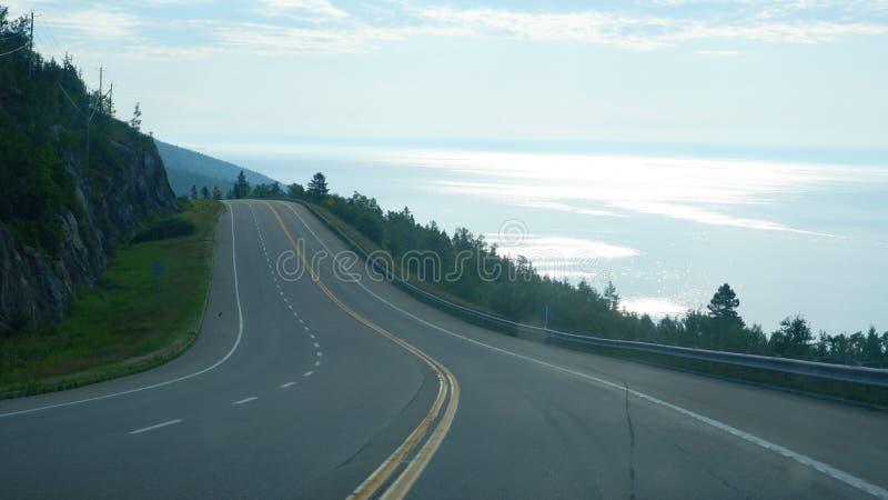 Krajobraz na drodze Kanada zdjęcia stock