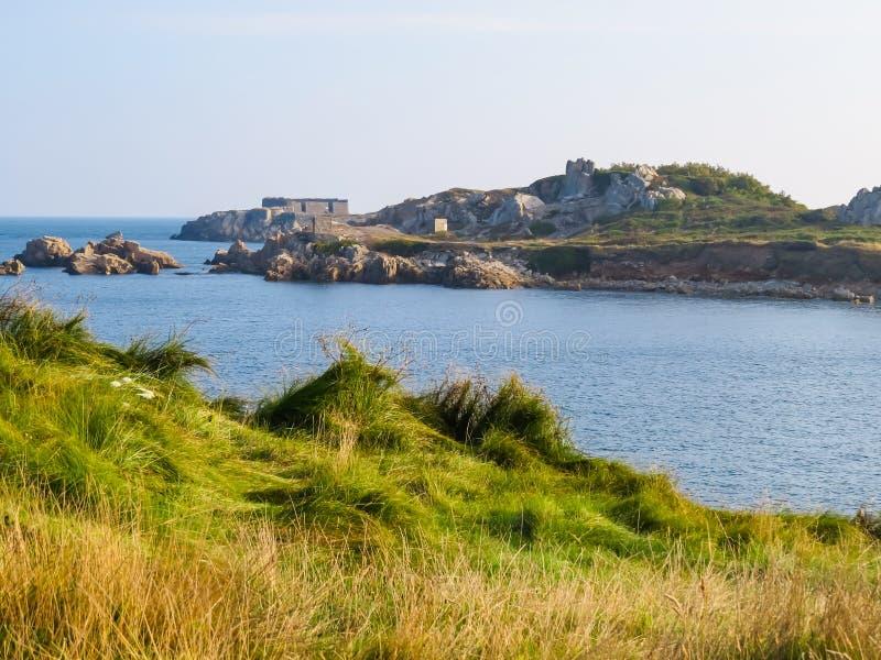 Krajobraz na Guernsey wyspie obraz royalty free