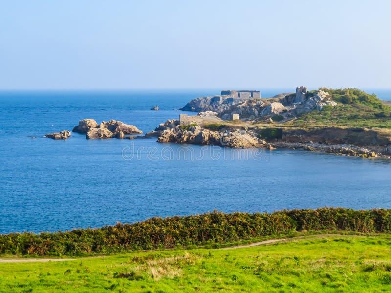 Krajobraz na Guernsey wyspie zdjęcie royalty free