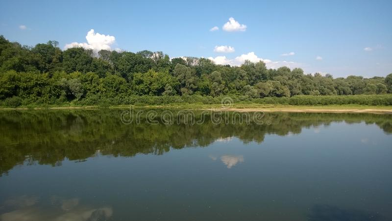 Krajobraz na rzece fotografia royalty free