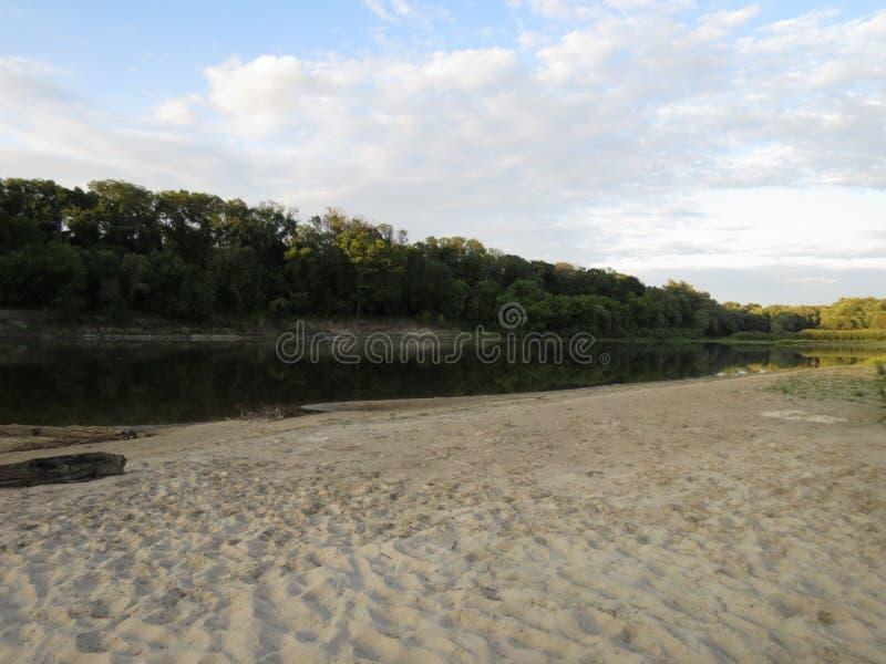 Krajobraz na rzece zdjęcie stock