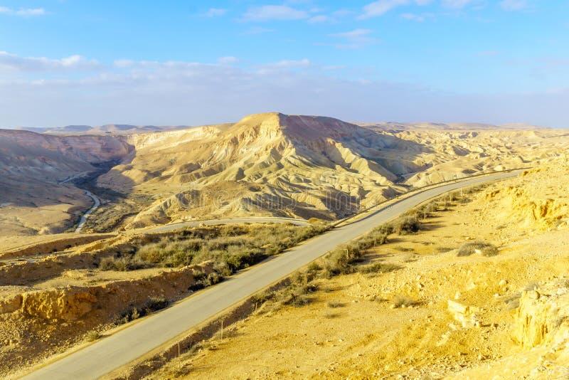 Krajobraz Nahal Zin blisko Sde Boker, obraz royalty free