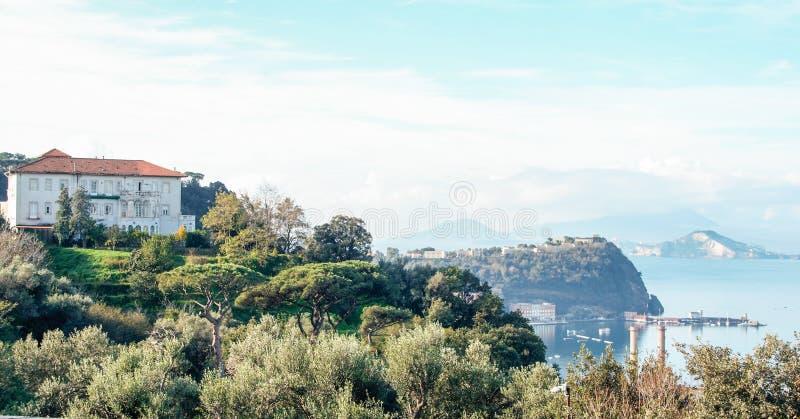 Krajobraz Naples, Posillipo fotografia stock