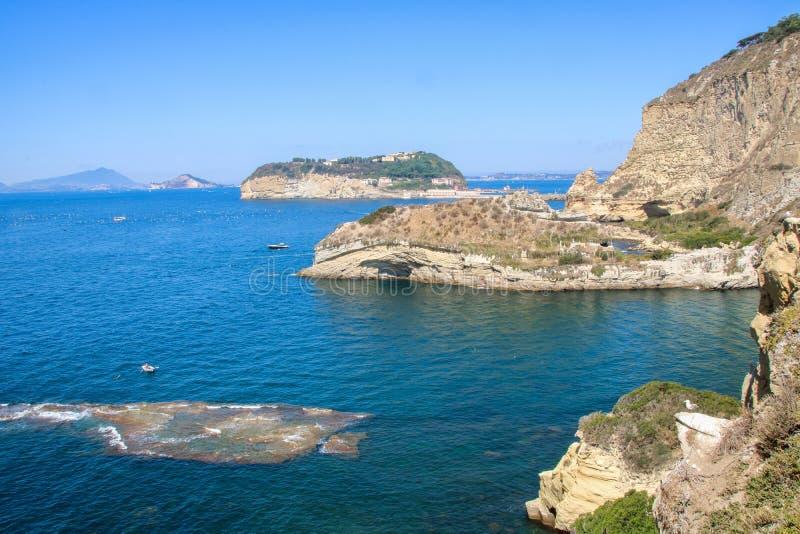 Krajobraz Naples zatoka i linia brzegowa zdjęcie royalty free