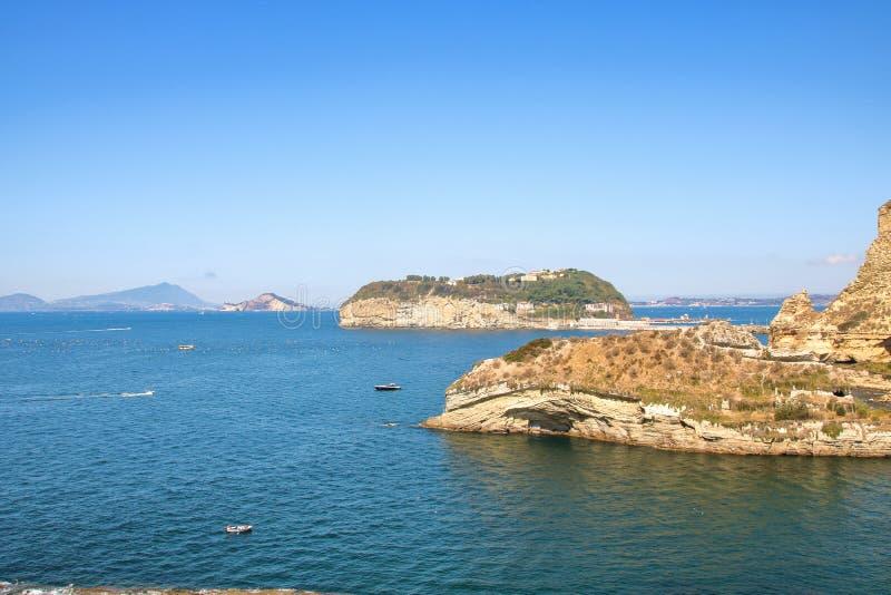 Krajobraz Naples zatoka i linia brzegowa obrazy stock
