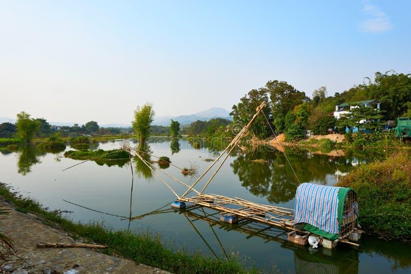 Krajobraz natura w Dien Bien Phu północnym wietnamu obraz stock