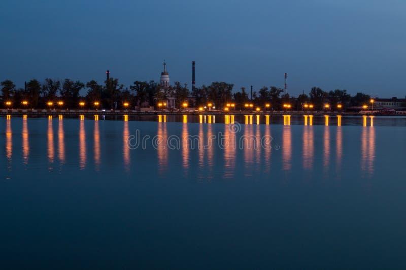 Krajobraz noc staw zdjęcia royalty free