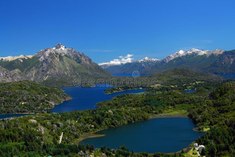 Krajobraz od bariloche, Argentina fotografia royalty free