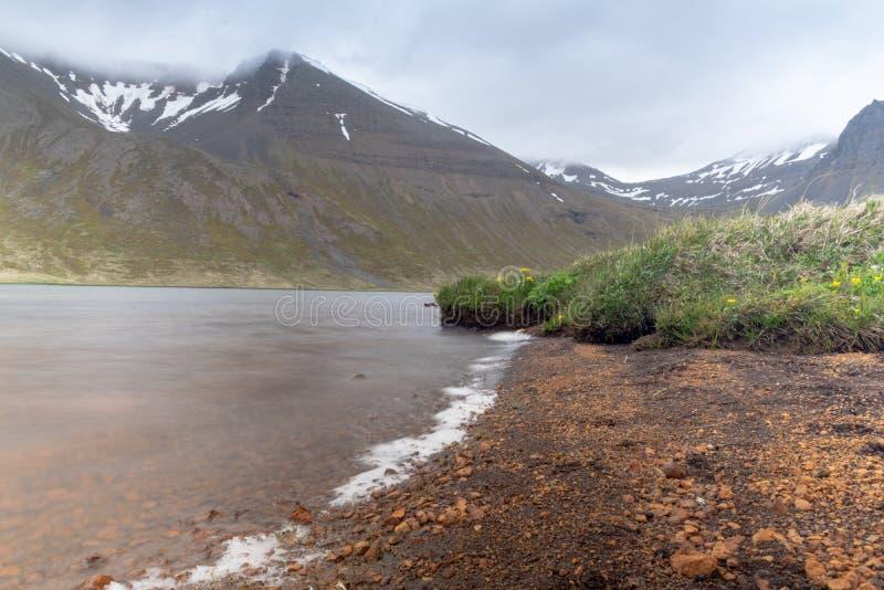Krajobraz od odległej ziemi - Iceland fotografia stock