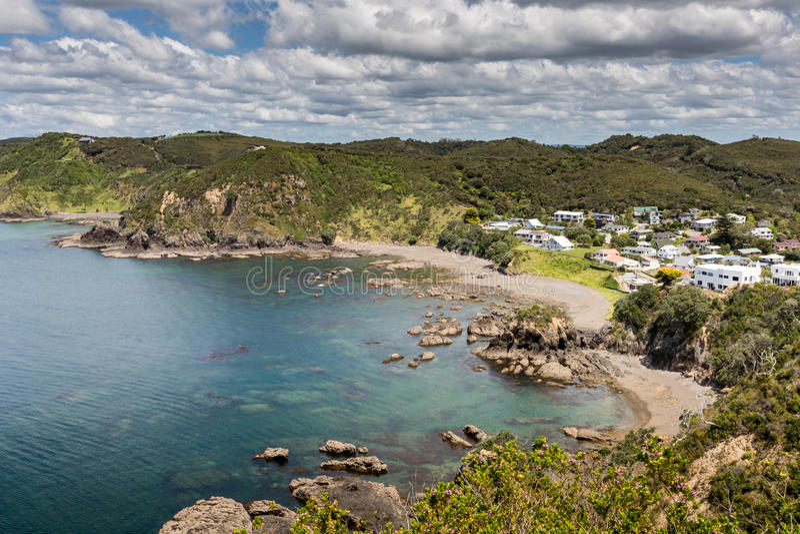 Krajobraz od Russell blisko Paihia, zatoka wyspy, Nowa Zelandia obraz stock