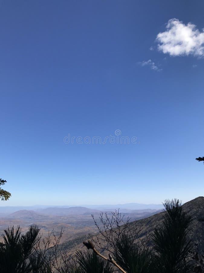 Krajobraz od szczytu halny Falaza zdjęcie stock