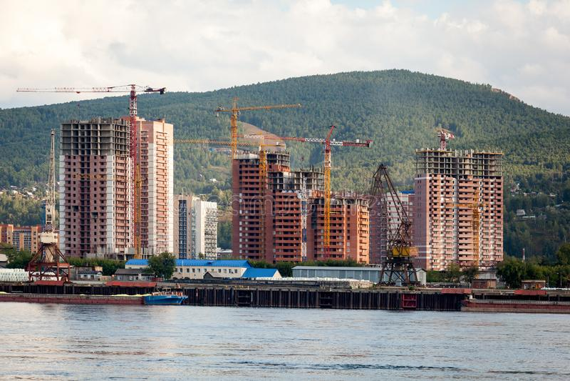 Krajobraz ogromna przemysłowa budowa zdjęcie royalty free