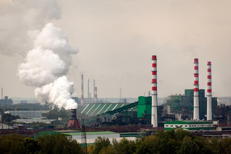 Krajobraz ogromny przemysłowy miasto fotografia stock