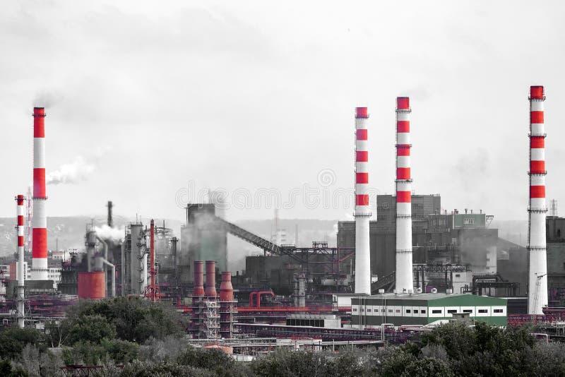 Krajobraz ogromny przemysłowy miasto obraz stock