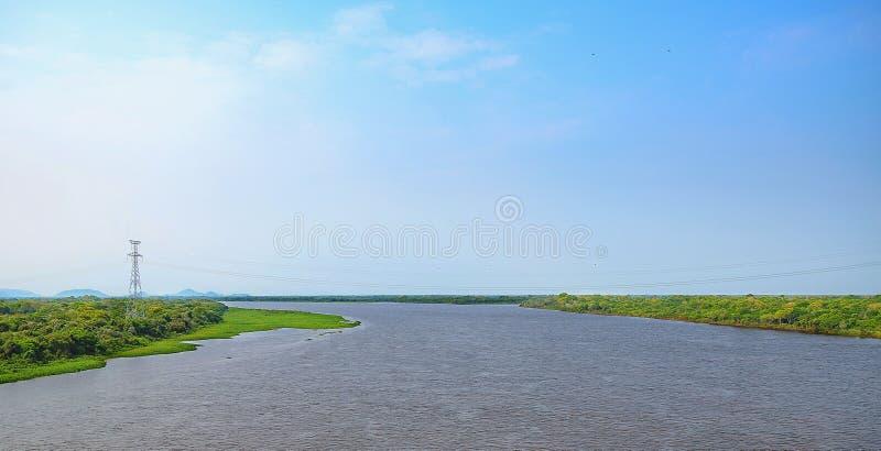 Krajobraz Paraguai rzeka zdjęcie stock