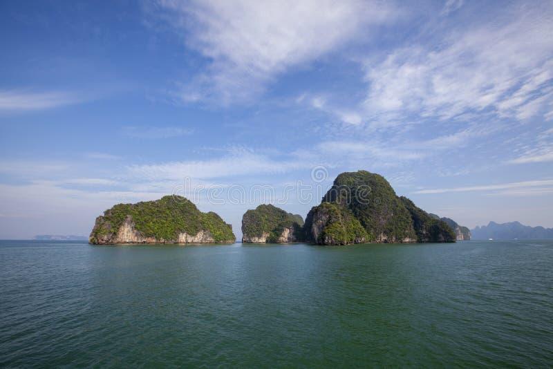 Krajobraz Phang Nga park narodowy w Tajlandia obraz stock