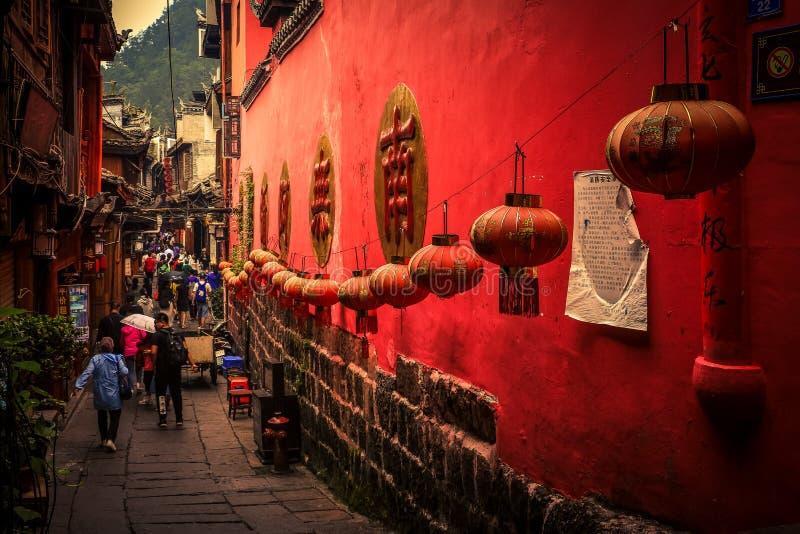 Krajobraz Phoenix antyczny townFenghuang, Hunan, Chiny fotografia royalty free